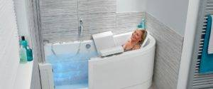 Woman in walk in bath Maidstone