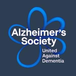 Alzheimers Society Logo in blue & black Maidstone